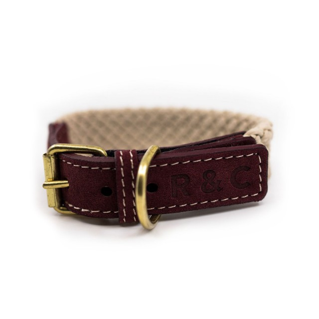 Ralph & Co Flat Rope Dog Collar (Burgundy)