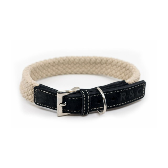 Ralph & Co Flat Rope Dog Collar (Black)