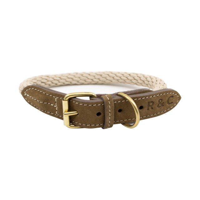 Ralph & Co Braided Rope Dog Collar (Ivory)