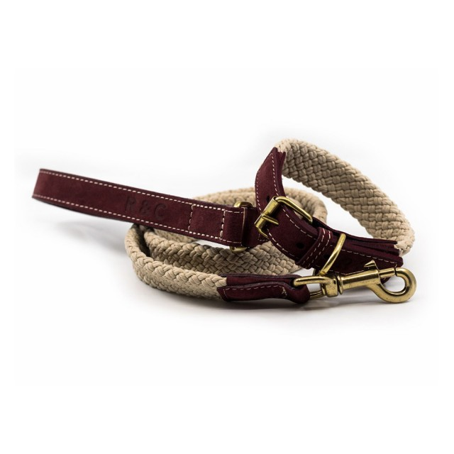 Ralph & Co Flat Rope Dog Lead (Burgundy)