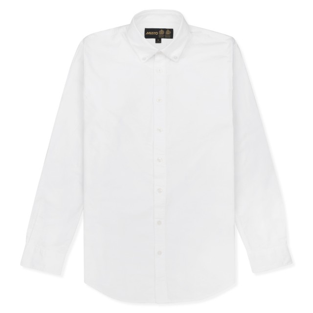 Musto Adults Classic Button Down Oxford Shirt (White)