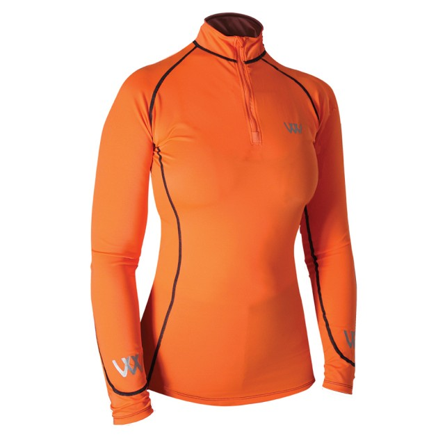 Woof Wear Ladies Performance Riding Shirt (Orange)