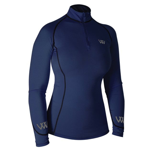 Woof Wear Ladies Performance Riding Shirt (Navy)