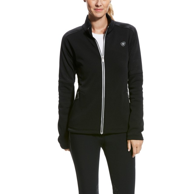 Ariat Women's Sonar Full Zip (Black Reflective)