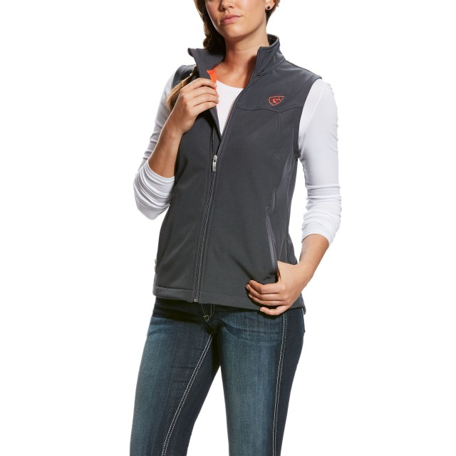 Ariat Women's NEW Team Softshell Jacket (Graphite Heather)