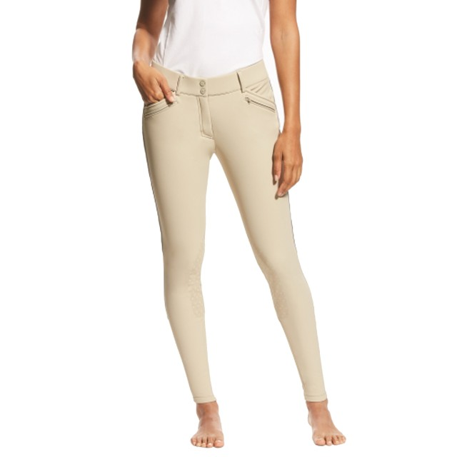 Ariat Women's Ranier Grip Knee Patch Breeches (Tan)