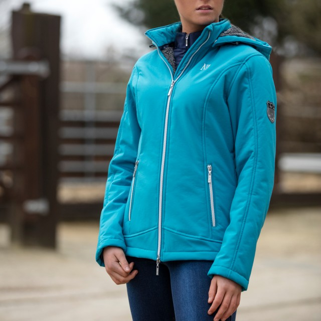 Mark Todd Women's Softshell Fleece Lined Jacket (Petrol Blue)