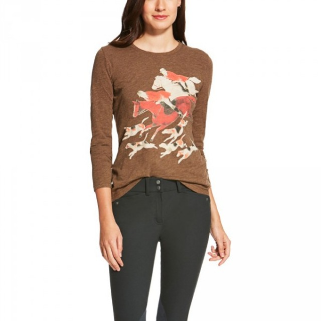 Ariat (Sample) Women's Long Sleeve T-Shirt (Hunt Scene)