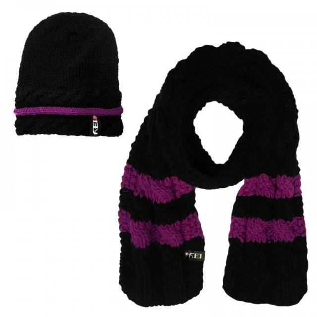 Ariat FEI Cable Knit Winter Set (Black FEI Purple) - Wychanger Barton 15bd62dfe28c
