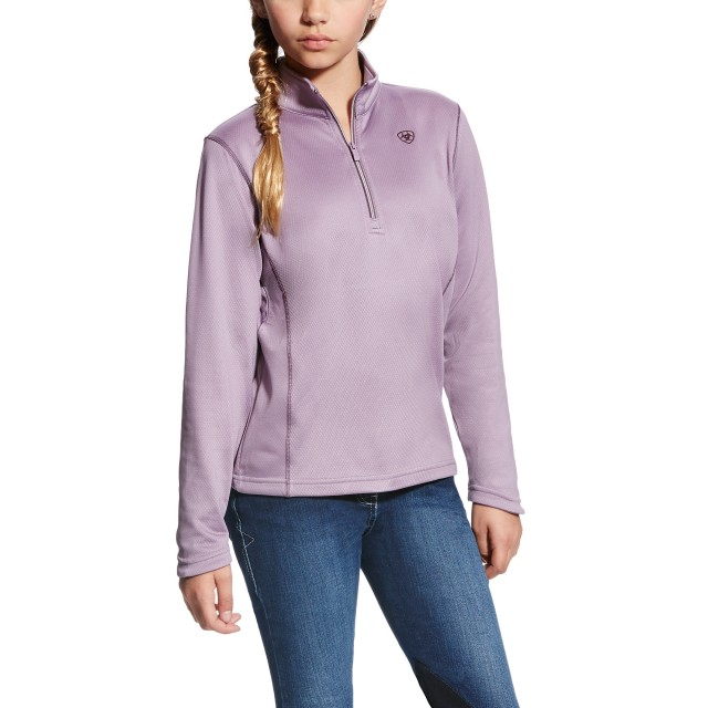 Ariat Girl's Menlo Half Zip (Plum Perfect)