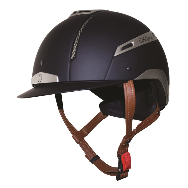 Gatehouse Volare Riding Hat (Navy/Silver)