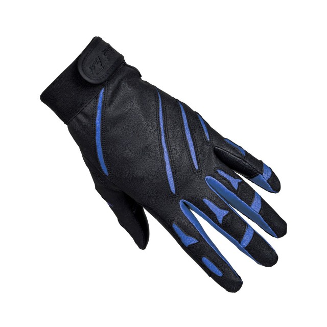 Mark Todd Adults Sports Riding Gloves (Black/Royal Blue)