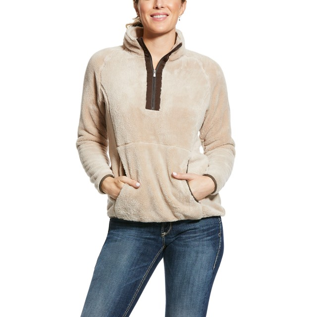 Ariat Women's Dulcet 1/4 Zip Sweatshirt (Covert Beige)