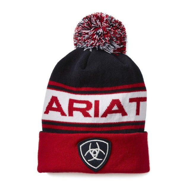 Ariat Team Beanie (Navy/Red)