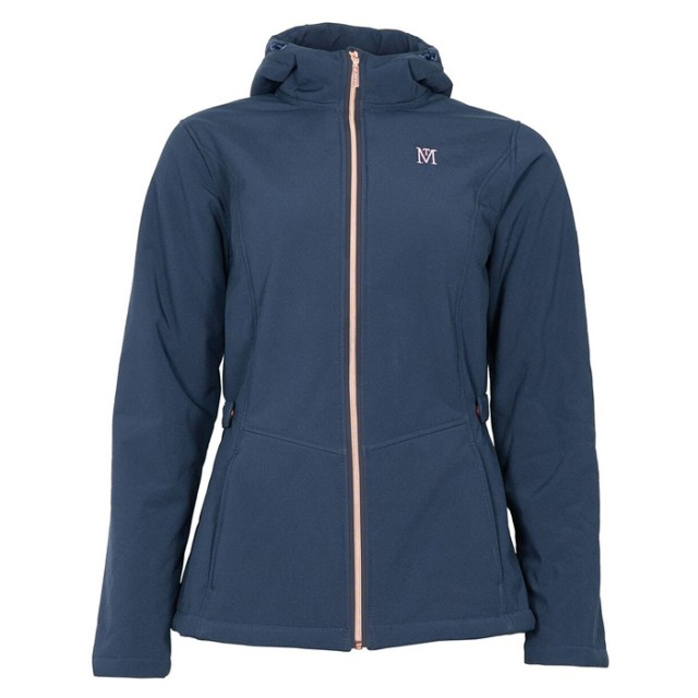 Mark Todd Women's Softshell Fleece Lined Jacket (Navy/Rose Gold)