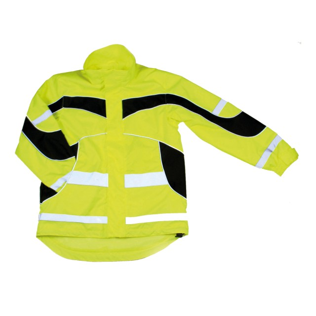 Equisafety Adults Hi-Vis Waterproof Lightweight Jacket (Yellow)