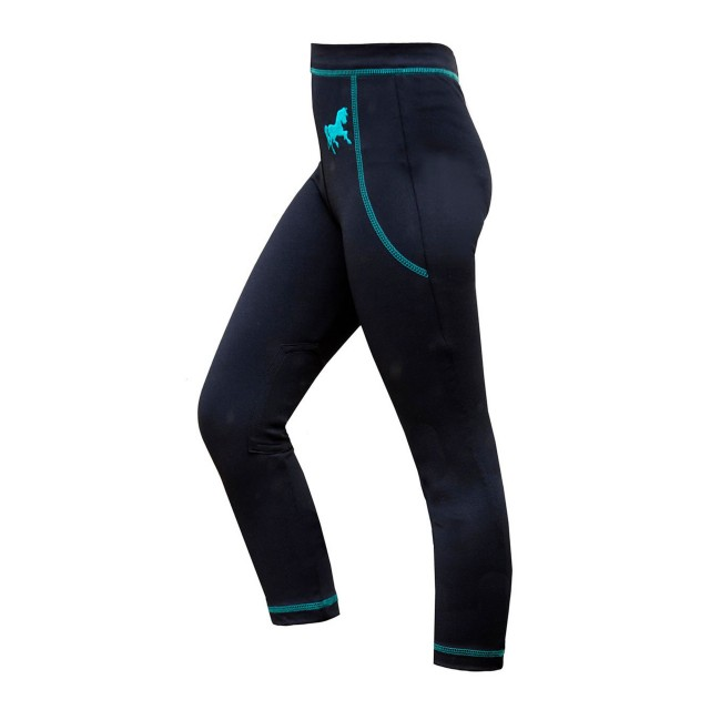 Mark Todd Kids Leggings (Navy/Aqua)
