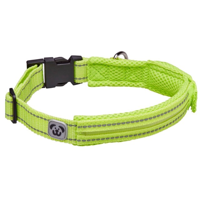 Woofmasta Hi-Viz Flashing Dog Collar  (Flourescent Yellow)
