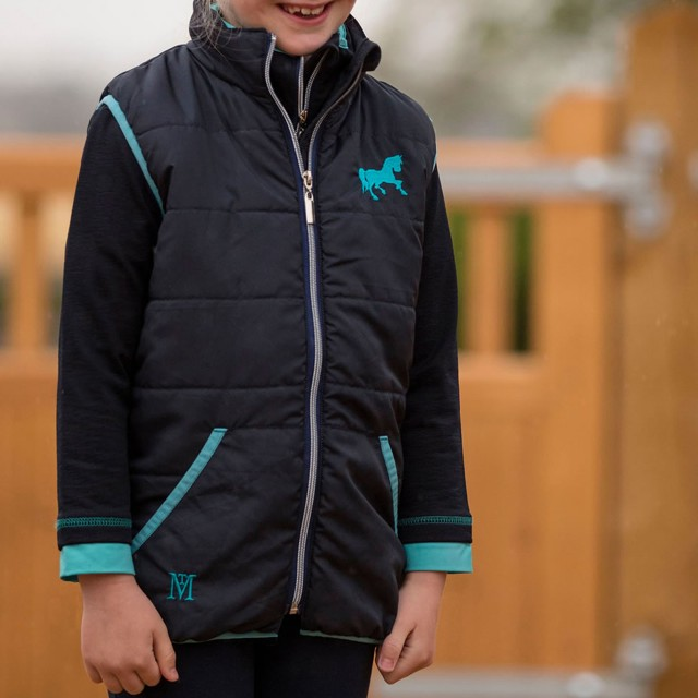 Mark Todd Kids Quilted Gilet (Navy/Aqua)