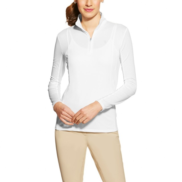 Ariat (Sample) Women's Sunstopper 1/4 Zip (White)